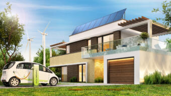 Electricity from an e-car